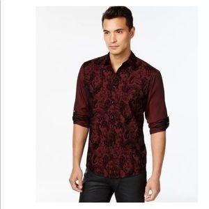 New Men's INC kyle tango red dress shirt XL